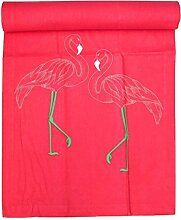 Bada Bing Tischläufer Flamingo Sommer Tropical Tischdeko 40 x 150 Läufer Pink