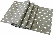 Bada Bing Tischläufer grau mit vielen weißen Sternen 100 % Baumwolle ca. 40 x 137 cm Läufer