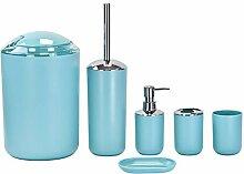 Badaccessoires-Set aus Kunststoff - 6-tlg - Blau