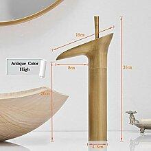 Badarmatur aus reinem Kupfer, Wasserhahn aus