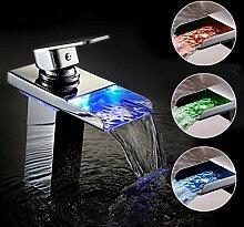 Badarmatur Mischbatterie Waschtisch Luxus LED