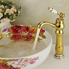 Badarmaturen Wasserhahn Küchenarmatur Deck Gold