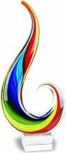 Badash Tafelaufsatz aus Glas, Murano-Stil,