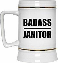 Badass Janitor - Beer Stein Bierkrug Keramik