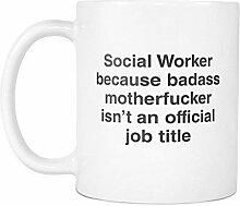 Badass Sozialarbeiter 11oz Kaffee-Haferl Lustiges