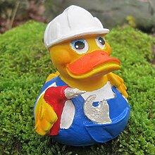 Badeente Heimwerker Duck aus Kautschuk -
