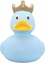Badeente mit Krone XXL Farbe Ente in Hellblau