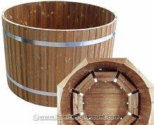 Badefass Standard mit einem Durchmesser von 150cm - für Holzbadefass Badefässer Badefass für draussen