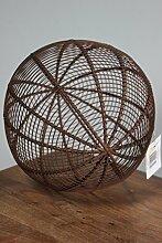 BADEKO Kugel Oli aus Metall Edelrost, Durchmesser 30 cm, Gartenkugel