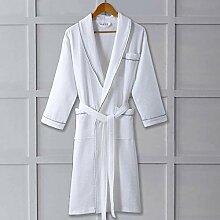 Bademantel Frauen Baumwolle dünne Robe Herren