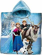 Bademantel Poncho Handtuch Baumwolle Frozen Elsa