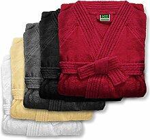 Bademantel unisex für Damen und Herren | Öko Tex Standard 100 | reine Baumwolle | viele Farben und Größen | Grau Größe XL