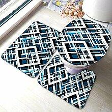 Badematte 3-teiliges Set Saugfähigen Teppich