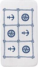 Badematte Anker, Memory Schaum, blau (Badematte 60/100 cm)