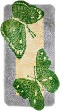 Badematte Aurora, grün (Vorleger für Hänge-WC 50/50 cm)
