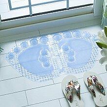 Badematte Badezimmer Badewanne Dusche Badezimmer Matten Matten wasserdicht Massage Kissen 35 x 62 cm, 35 x 62 cm weiß