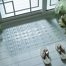 Badematte Badezimmer Badewanne Dusche Badezimmer Matten Matten wasserdicht Massage Kissen 50 x 80 cm, 50 x 80 cm weiß