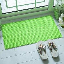 Badematte Badezimmer Badewanne Dusche Matten Matten Kunststoff Saugnapf wasserfeste Matte 38 x 70 cm, 38 x 70 cm Grün