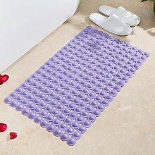 Badematte Badezimmer Dusche Massage Kissen, solide Anti-Rutsch-Matten, 52 x 52 cm - lila