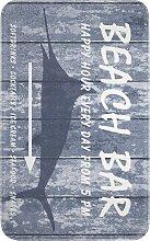 Badematte Beach Bar, Memory Schaum, blau (Badematte 60/100 cm)