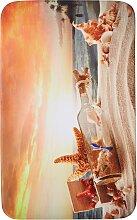 Badematte Beach, Memory Schaum, orange (Vorleger für Hänge-WC 45/50 cm)
