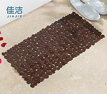 Badematte dusche Massagekissen solide Anti-Rutsch-Matten, 35cmx70cm Kaffee