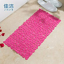 Badematte dusche Massagekissen solide Anti-Rutsch-Matten, 36 cmx 71 cm rose ro