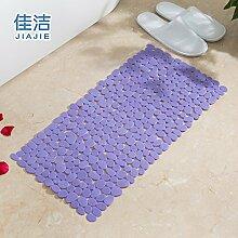 Badematte dusche Massagekissen solide Anti-Rutsch-Matten, 36cmx71cm Viole