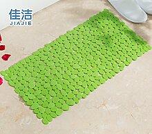 Badematte dusche Massagekissen solide Anti-Rutsch-Matten, 39 cmx 69 cm Frucht Grün