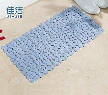 Badematte dusche Massagekissen solide Anti-Rutsch-Matten, 49 cmx 49 cm Hellblau