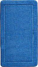 Badematte Emilie, Memory Schaum, blau (Vorleger für Stand-WC 45/50 cm)