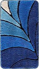 Badematte Estelle, blau (Vorleger für Stand-WC 45/50 cm)