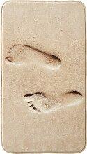 Badematte Feet, Memory Schaum, braun (Badematte