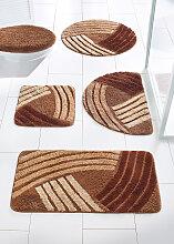 Badematte Finja, orange (Vorleger für Stand-WC