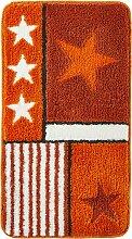 Badematte Finley, orange (Vorleger für Hänge-WC 45/50 cm)
