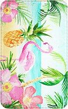 Badematte Flamingo, Memory Schaum, rosa (Vorleger für Hänge-WC 45/50 cm)