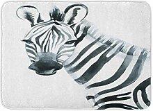 Badematte Flanell Stoff weich saugfähig Zeichnung