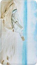 Badematte Flaschenpost, Memory Schaum, beige
