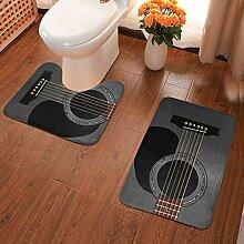 Badematte für Akustikgitarre, 2-teiliges Set,
