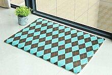 Badematte/Fußmatte/Matten in der Halle/Schlafzimmer Küche Bad Raster Mat-C 55x85cm(22x33inch)