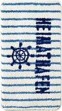 Badematte Heimathafen, blau (Vorleger für Hänge-WC 45/50 cm)