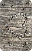 Badematte Herz, Memory Schaum, grau (Vorleger für
