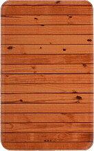 Badematte Holz, Memory Schaum, braun (Vorleger