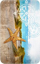 Badematte Kompass, Memory Schaum, blau (Badematte