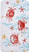 Badematte Krabbe, Memory Schaum, orange (Vorleger für Stand-WC 45/50 cm)
