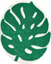 Badematte Leaf, grün (Badematte 65/80 cm)
