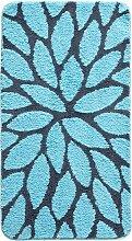Badematte Leonie, blau (Vorleger für Hänge-WC 45/50 cm)