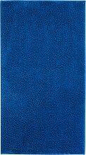Badematte Madras, blau (Vorleger für Stand-WC 45/50 cm)