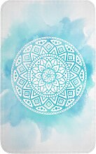 Badematte Mandala, Memory Schaum, blau (Badematte