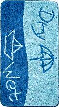 Badematte Meer, blau (Vorleger für Hänge-WC 45/50 cm)
